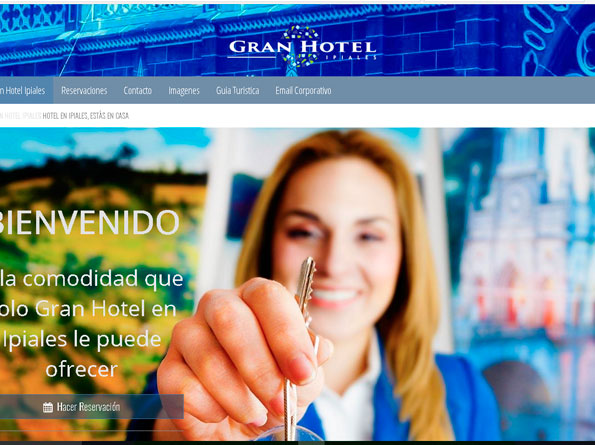 Página Web Gran Hotel Ipiales