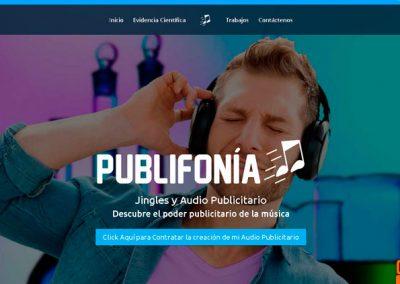 Página web Publifonia