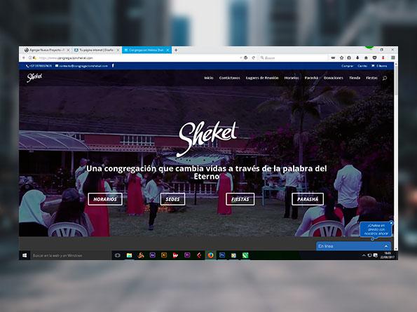 Página Web Shekel